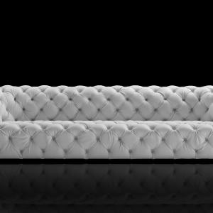 Pikowana klasyczna sofa ChesterMoon. Fot. Baxter.