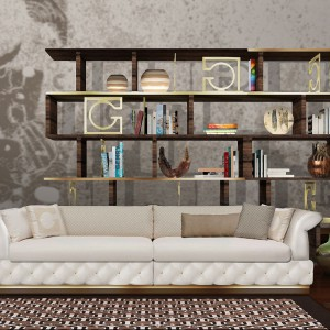 Pikowana stylowa sofa Duccio włoskiej marki Gherardini. Fot. Gherardini.