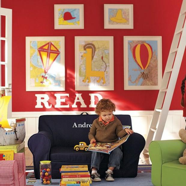 Pokój dziecka na czerwono. Energetyczne aranżacje