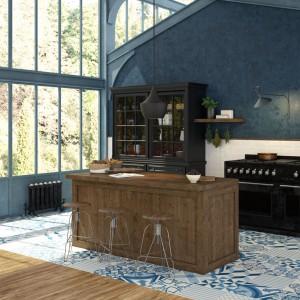Płytki z kolekcji Moving Blue Natural firmy Aparici, dzięki którym kuchnia nabierze indywidualnego charakteru. Dostępne w wielu rozmiarach.