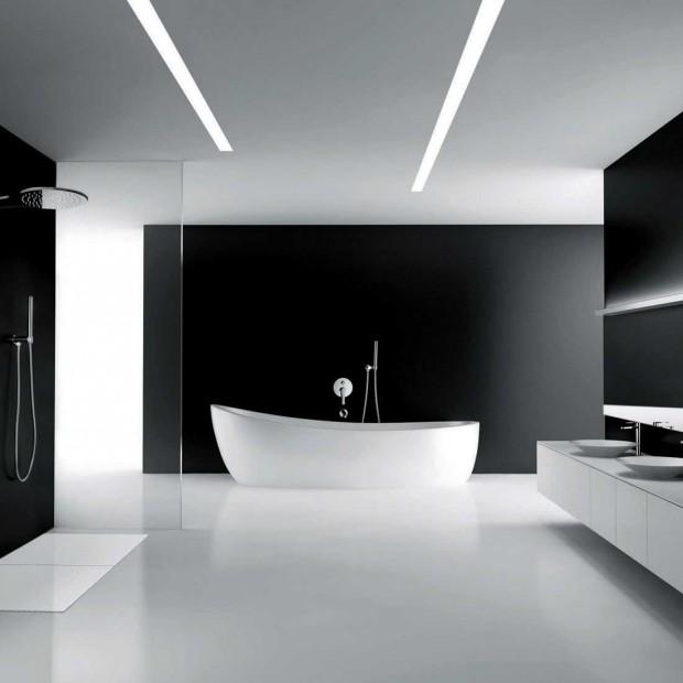 Czarno-biała łazienka. Pomysł na eleganckie wnętrze