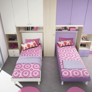 Duże wnętrze umożliwia równoległe ustawienie łóżek. Fot. Colombini Casa.