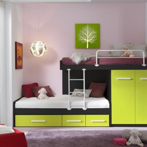 Piętrowe łóżko - najlepsze rozwiązanie dla rodzeństwa. Fot. Muebles Lara.