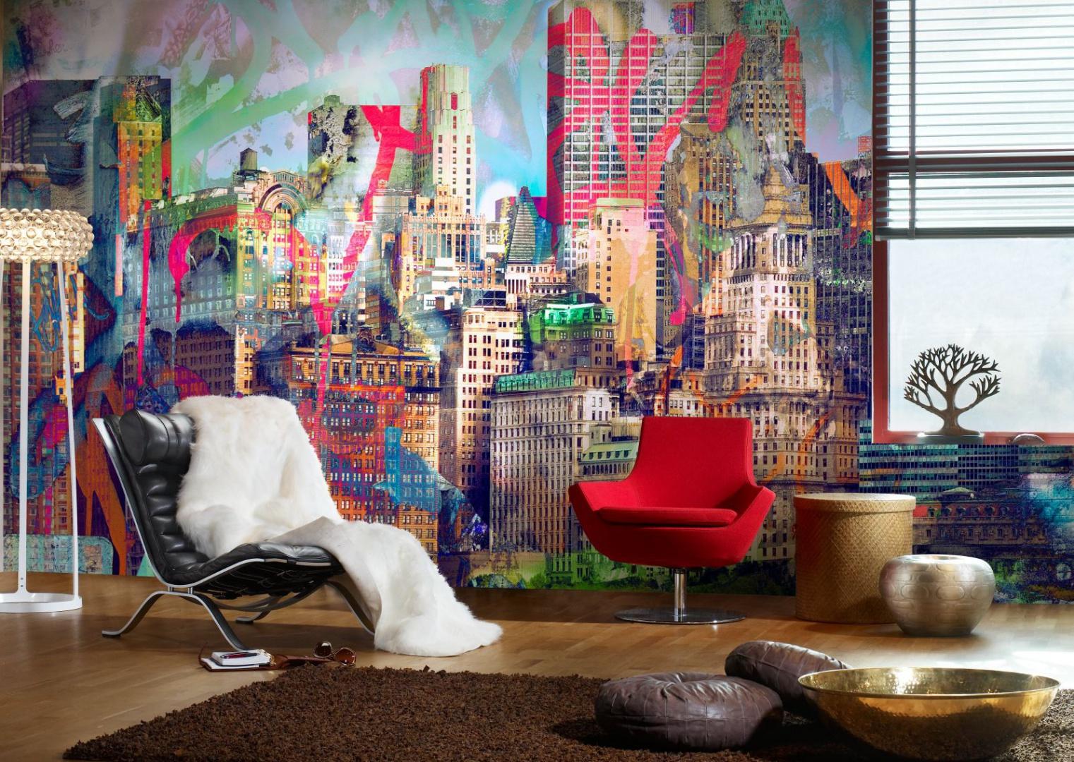 Kolorowy wzór Graffiti City, kolekcja Urban Nature. Fot. Mr Perswall.