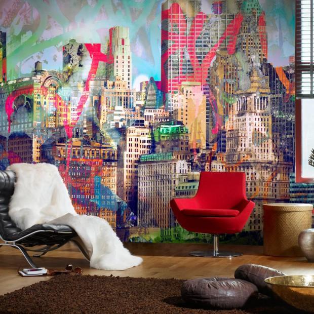 Nowoczesne tapety do salonu. Modne kolory, ciekawe wzory