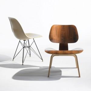 Krzesło LCW to projekt Charlesa Eamesa z 1945 roku. Fot. Vitra.