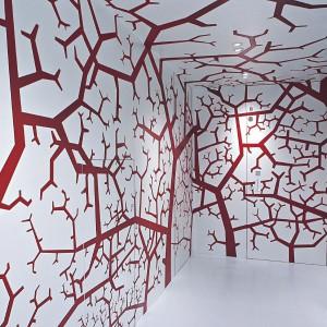 """L'Invisible to """"niewidoczne"""" drzwi - pozbawione ramy, ośzieżnicy i zawiasów, prawie stapiają się w jedno ze ścianą. Dostępne różne materiały i wykończenia. Fot. LAB."""