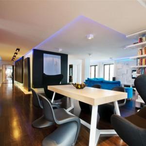 Kolor we wnętrzu: mieszkanie pełne kontrastów