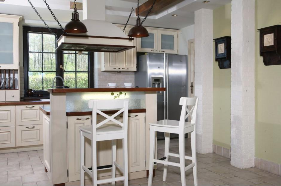 W tej kuchnia cegła pojawia Cegła w kuchni Zobaczcie   -> Kuchnia I Cegla