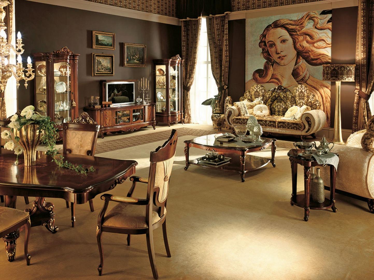 Luksusowy salon w klasycznym wydaniu. Fot. Treci.it.