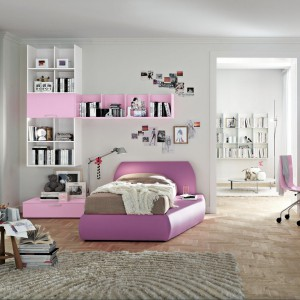 Takie designerskie łóżko chciałaby mieć chyba każda nastolatka. Fot. Colombini Casa.