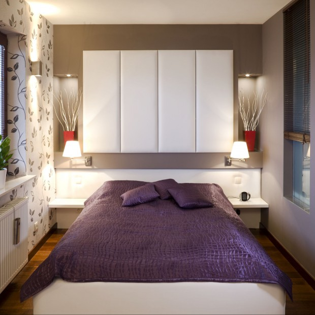 Fiolet we wnętrzu – 12 aranżacji sypialni prosto z polskich domów