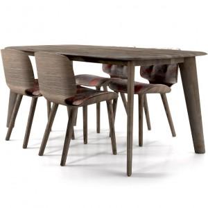 Stół i krzesła do jadalni zaprojektowane przez Marcela Wandersa dla marki Moooi. Fot. Moooi.
