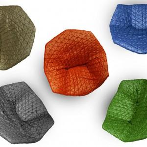 Pikowane siedzisko Juliet występuje w pięciu kolorach. Fot. Benjamin Hubert.