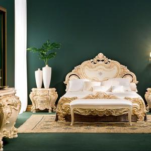 Łóżko Olimpia marki Silik inspirowane stylem klasycznym  przenosi pałacowy czar do współczesnych aranżacji. Fot. Silik