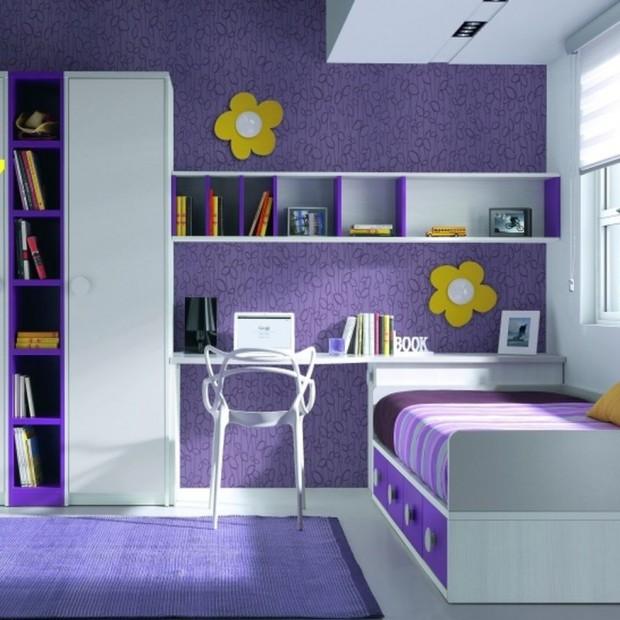 Fioletowy pokój dziecka. Praktyczne pomysły dla dziewczynki i chłopca