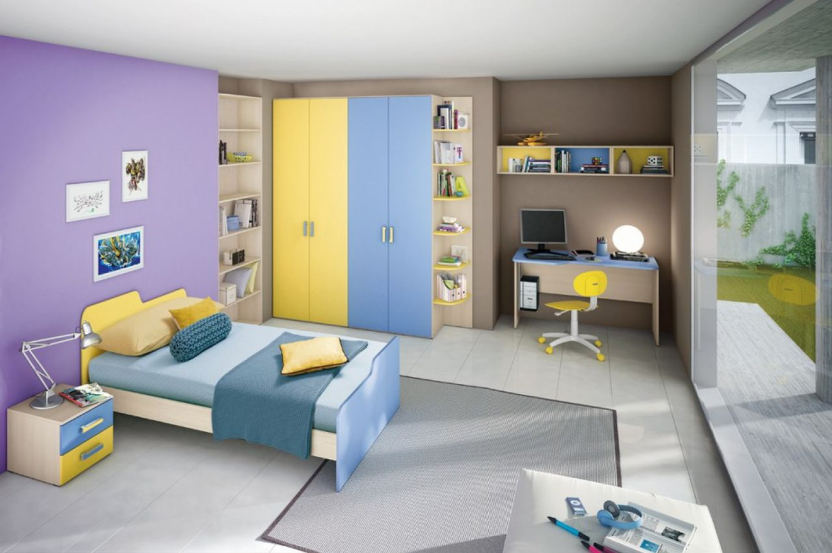 W pokoju dziecka powinny dominować ulubione kolory.  Fot. Colombini Casa.