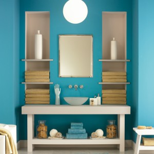 Farba Aura Bath&Spa odporna na działanie wilgoci i mikroorganizmów. Fot. Benjamin Moore.