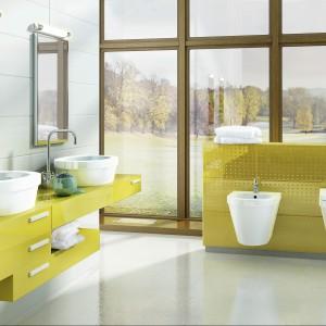 Zestaw mebli do łazienki Benque firmy Hybner. Fot. Hybner.