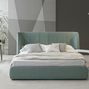 Łóżko Basket Plus z oryginalnym, geometrycznym podziałem zagłówka. Proj. Mauro Lipparini. Fot.Bonaldo.