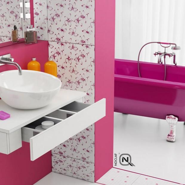 Róż nie tylko dla dziewczynek? 12 pięknych łazienek w różowym kolorze