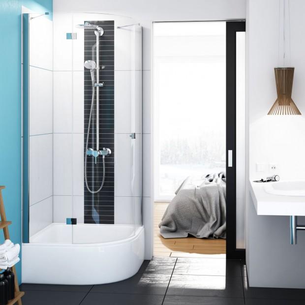 Drabiny, drabinki, szczebelki – najmodniejszy sposób na łazienkowy regał. 12 aranżacji