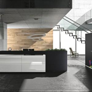 Kuchnia z kolekcji Artematica Vitrum Arte firmy Valcucine. Szklane fronty i biało-szara kolorystyka nadają meblom nowoczesny, wręcz minimalistyczny charakter. Idealne do loftowych wnętrz.