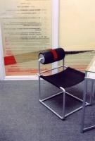 Projekt wnętrz i mebli do gabinetu - komplet kawowy do gabinetu w Kancelarii Radców Prawnych Zdanowicz i Wspólnicy w Warszawie, architekt wnętrz Marta Dalecka.