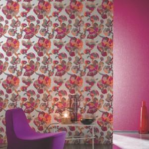Propozycja marki Casamance - barwna, kwiatowa kolekcja Effervescence. Fot. Casamance.