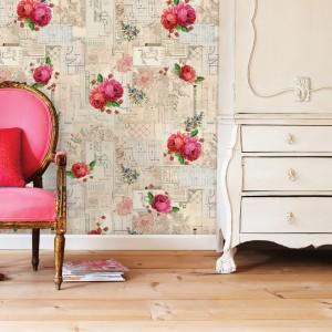 Piękna stylowa tapeta z motywem róż to propozycja marki PiP Studio. Fot. PiP Studio.