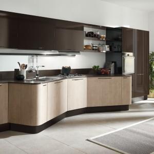 System mebli kuchennych Penelope marki Aran Cucine to odpowiedź na zapotrzebowanie na produkt o lekkiej, zalotnej linii doskonały także do małej kuchni. Fot. Aran Cucine.