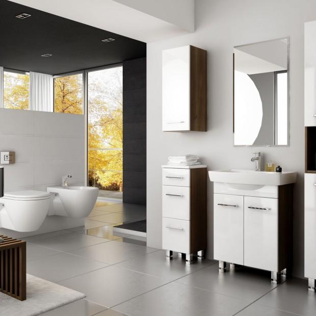 Eleganckie białe meble – 15 najpiękniejszych zestawów łazienkowych