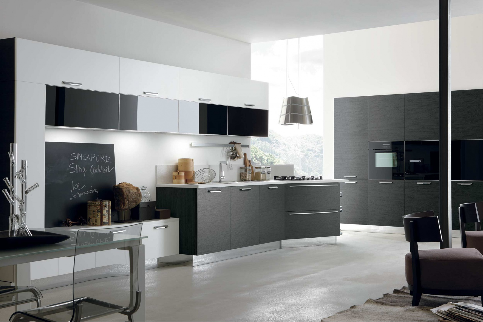 Kuchnia Life z programu Look System marki Stosa Cucina, dzięki modułowym elementom gwarantuje wiele sposobów na kreowania przestrzeni kuchennej. Fot. Stosa Cucina.