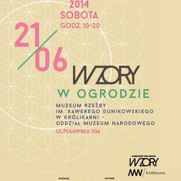 """Warszawskie Targi Designu """"Wzory"""" – edycja """"Wzory w ogrodzie"""""""