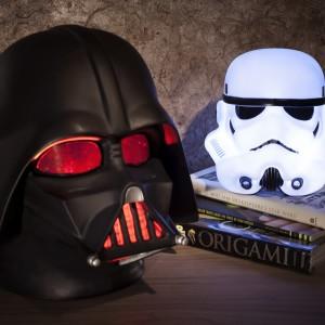 Lampki zainspirowane kultowymi postaciami z Gwiezdnych Wojen. Fot. Firebox.