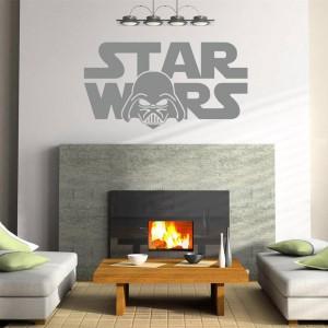 Naklejka ścienna Star Wars. Produkt dostępny na platformie Ebay.