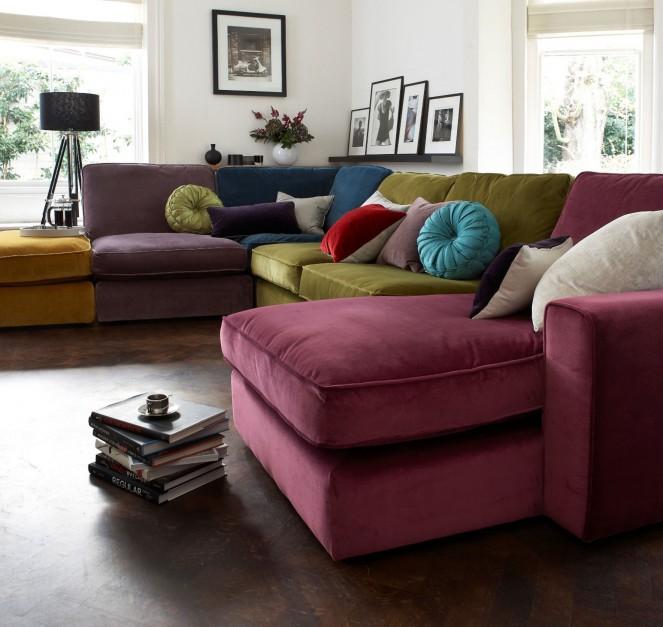 duża kolorowa sofa narożna wygodne kanapy idealne do