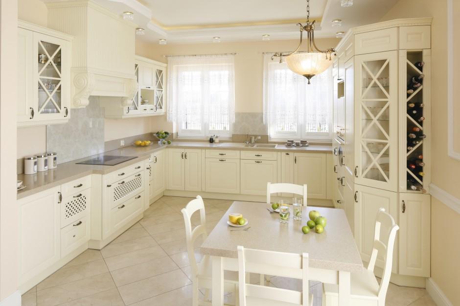 Kuchnia otwarta na salon Ciepła kuchnia z jadalnią W angielskim stylu -> Kuchnia Angielska Herbata Po Angielsku