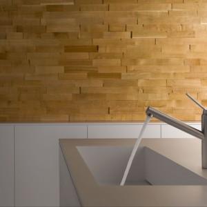 Purystyczna sylwetka baterii kuchennej Tangenta marki Kludi w oryginalny sposób łączy masywny korpus z wylewka i uchwytem mieszacza. Wyposażona w perlator oraz ogranicznik zużycia gorącej wody. Fot. Kludi.
