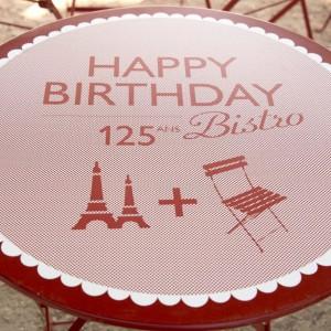 Stolik kawiarniany marki Fermob wyprodukowany z okazji 125 urodzin krzesła Bistro. Fot. Fermob.