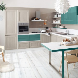 System mebli modułowych Tablet z kolekcji Quick Design oferuje różnorodne kontrastowe elementy, dzięki którym nie tylko można bawić się estetyką własnej kuchnia, ale też samemu stworzyć unikalny jej projekt. Fot. Veneta Cucina.