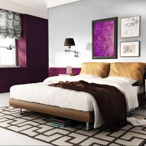 Ciemne fioletu w połączeniu z jasną szarością stanowi wyjątkowo eleganckie zestawienie. Fot.Beckers.
