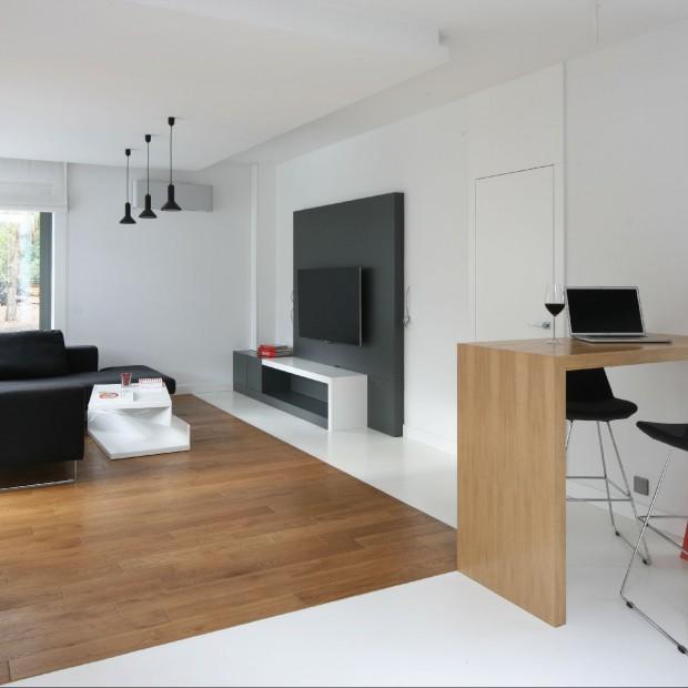 Mieszkanie w czerni i bieli: pomysł na wnętrze