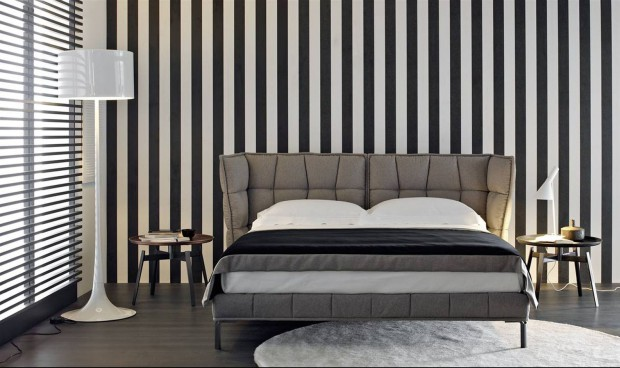 Pomys na cian paski w sypialni inspiruj ce aran acje for Camere da letto b b italia