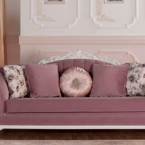Sofa Leonardo w pudrowym kolorze. Fot. Istikbal.