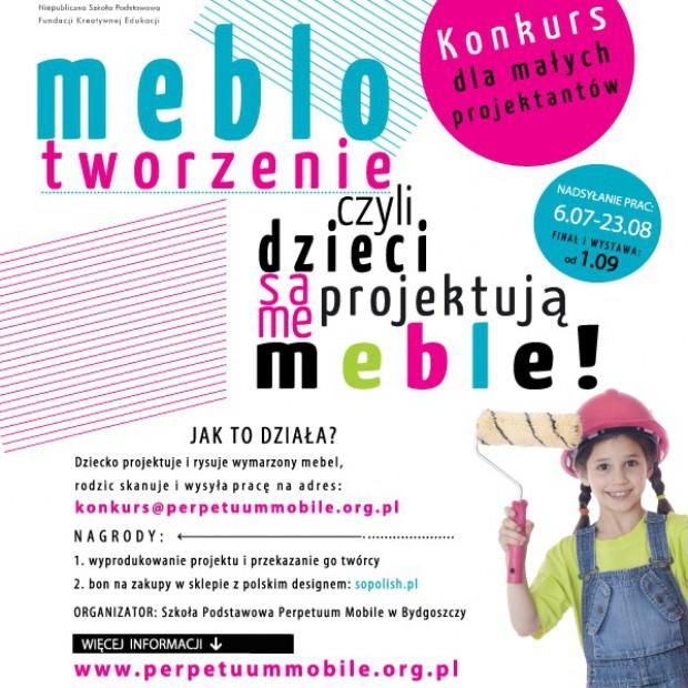 Meblotworzenie czyli dzieci same projektują meble! Konkurs dla dzieci