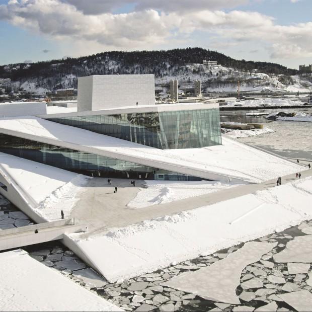 Wierzchołek góry lodowej. Opera Narodowa w Oslo