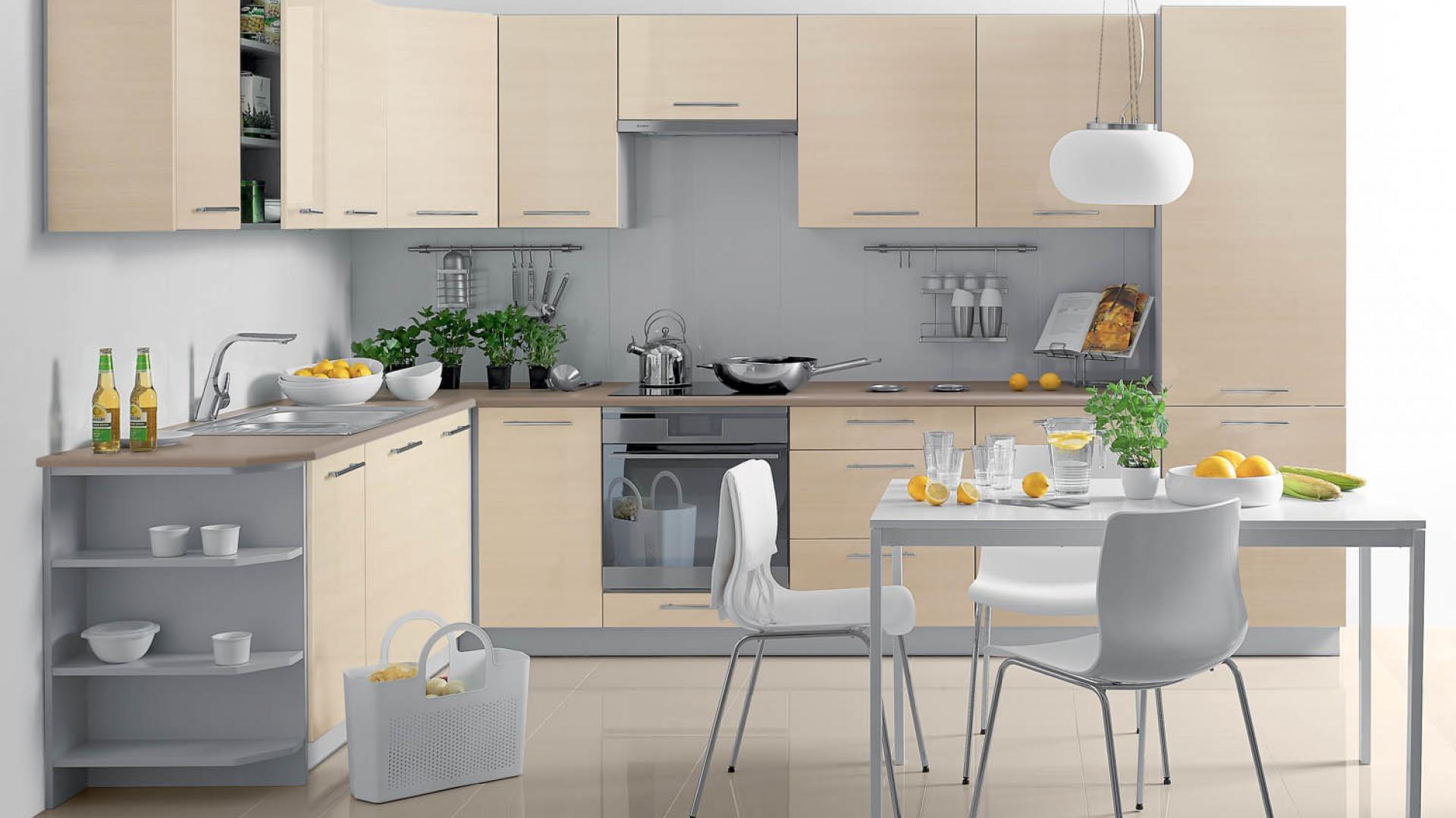 Zestaw mebli kuchennych Kuchnia w małym mieszkaniu Jak mądrze ją urządz   -> Castorama Inspiracje Kuchnia