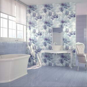 Płytki szkliwione ścienne i podłogowe z kolekcji Berna marki Alcor dostępne m.in. w pięknych lawendowych i liliowych kolorach. Fot. Alcor.