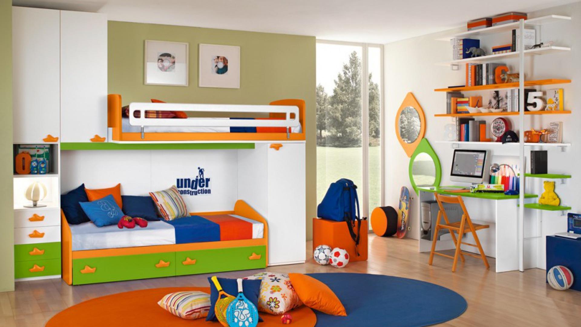 Łóżko piętrowe dedykowane chłopcom. Fot. Colombini Casa.